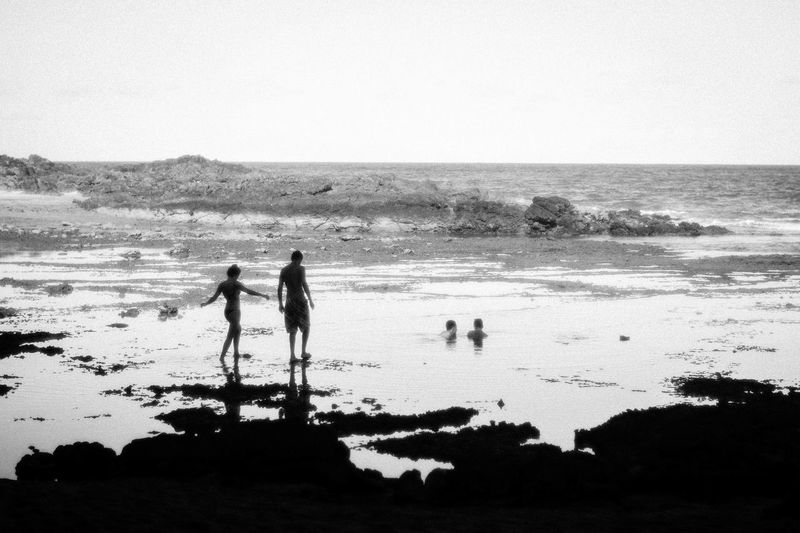 corals Blackandwhite Vacations Bahia/brazil Water Sea Beach Togetherness Full Length Sand Silhouette Standing Women
