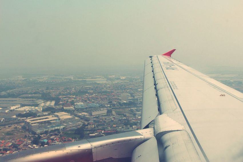 From An Airplane Window Jakarta Air Asia From The Sky