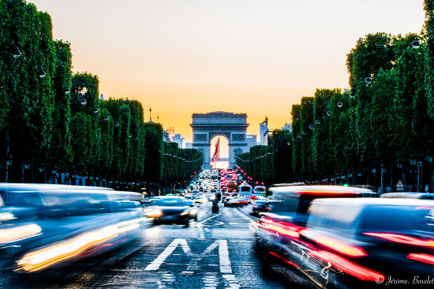 Champs-Élysées  Paris Paris, France  Sunset_collection Architecture City Motion Sunset