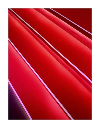 Color Palette Backgrounds Close-up Red Vibrant Color Indoors  Taking Photos Walking Around City Building Stairs Just Taking Pictures Urban Simplicity Munich Abstract Red Symmetry Vanishing Point Diminishing Perspective Built Structure Side View