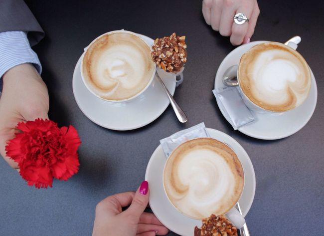 Let's have coffee together Coffee Hands Details Coffee Time Coffee And Sweets Coffee At Home My Favorite Breakfast Moment