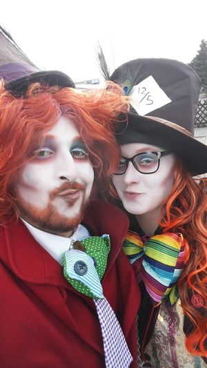 Alice In Wonderland Fasching Carnevale GERMANY🇩🇪DEUTSCHERLAND@ Party Party Time Milliner Adult Young Adult Adults Only Two People Redhead People Portrait