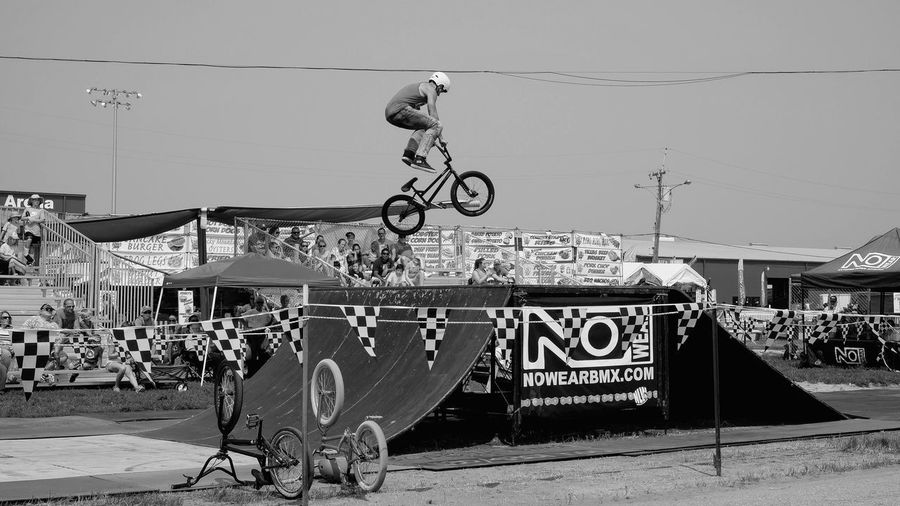 Nowear BMX Team Nebraska State Fair August 25, 2018 Grand Island, Nebraska Camera Work Event EyeEm Best Shots FUJIFILM X-T1 Getty Images Grand Island, Nebraska Nebraska Nebraska State Fair NowearBMX Stunt Summertime Action Shot  Architecture Bicycle Bmx  Built Structure Day Extreme Sports Eye For Photography Freestyle Fujinon 35mm 1.4 Full Length Leisure Activity Lifestyles Men Mid-air No Feet One Person Outdoors Ramp Real People Riding RISK S.ramos August 2018 Skateboard Park Skill  Sky Sport Stunt Tourist Destination Transportation