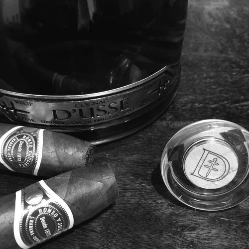 Cuban cigars and Cognac Cuban Cuban Cigar Cognac Blackandwhite