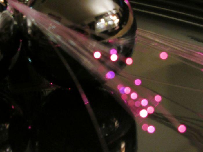 Metal Ball Pink Color Fiber Optics