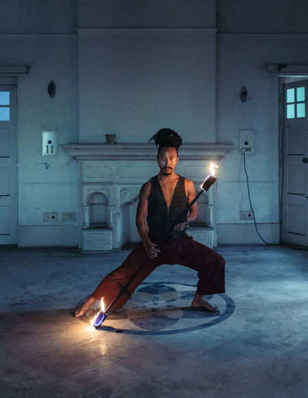 EyeEm EyeEm Best Shots Portraits Casual Clothing Dramatic Fire Fire - Natural Phenomenon Fire Portraits Fire Spinner Full Length Illuminated Playing With Fire Portrait