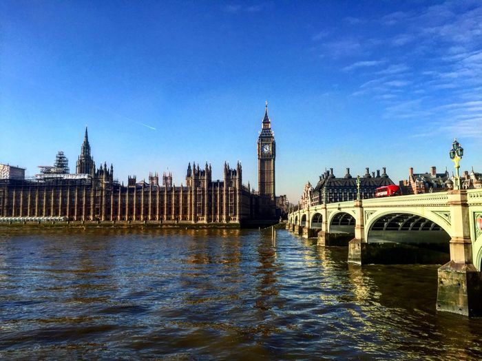 London Westminster Parliament Sunny
