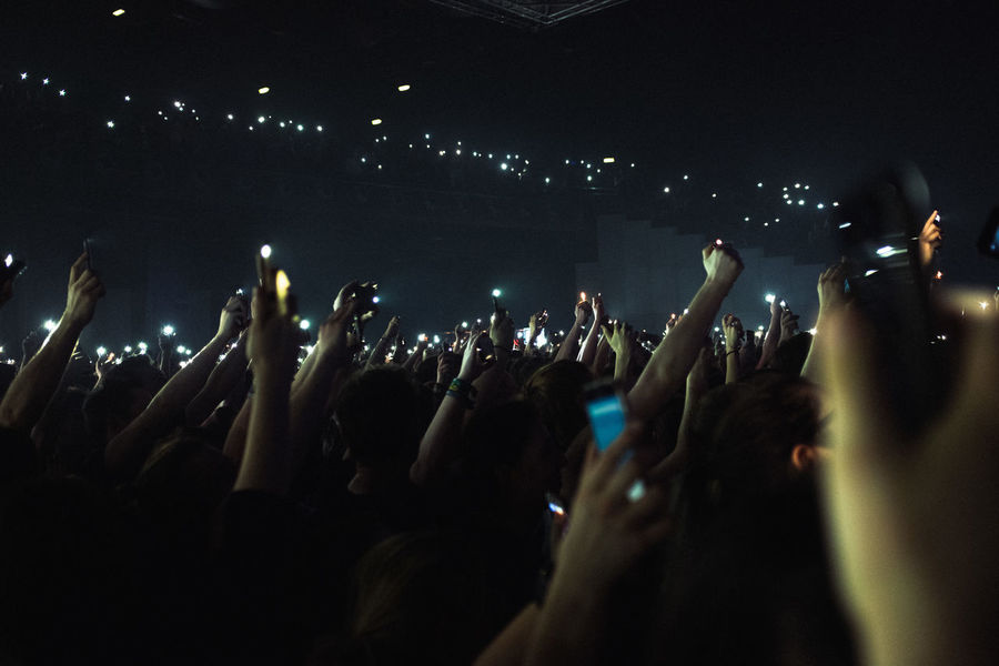 Concerts Fujifilm Music Light And Shadow EyeEm Best Shots EyeEm Gallery Arms Raised Music Festival Crowd Nightlife Arts Culture And Entertainment Popular Music Concert Music Celebration Night Excitement Audience Fun Event Human Body Part Large Group Of People Youth Culture Performance Stage Light