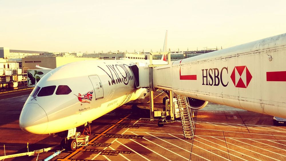 Transportation Business Finance And Industry Travel Airplane Commercial Airplane Industry Airport Runway Airport Passenger Boarding Bridge Virgin Atlantic Airport Photography No People Architecture Day Ruby Murray Long Haul California Bound 787 Dreamliner