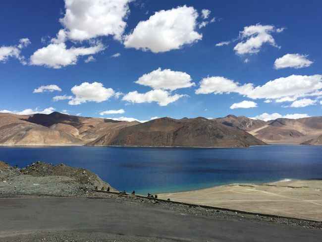 Scenics Sky Water Nature Mountain Range Beauty In Nature Mountain Cloud - Sky Day Tranquility Lake Tranquil Scene No People Landscape Physical Geography Outdoors Road Desert Leh The Great Outdoors - 2017 EyeEm Awards Done That. Been There.