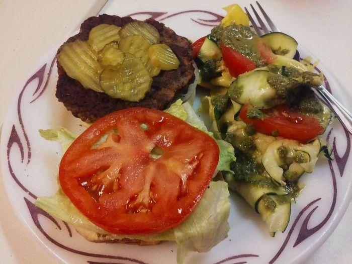 Foodphotography Food Hamburger Salad Summer Foodporn Lets Eat! Picnic Food Love Food Fast Food Home Cooking Deliciousness