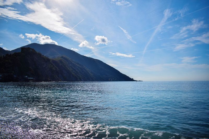Mediterranean sea and blue sky🌊💙 Nature Blue Sky Sea Nature Photography Beauty In Nature Naturelovers Sky Mediterranean  Mediterranean Sea Water Mountains Naturephotography Italy Italia Skyscraper Camogli Be. Ready.