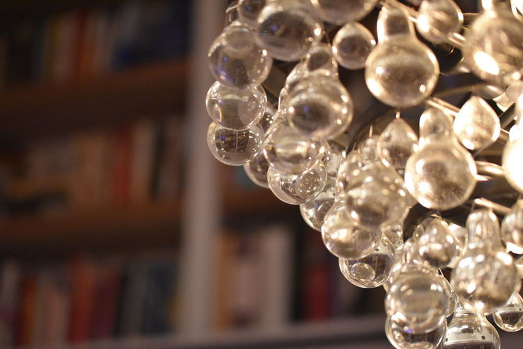 Lights Macro Photography Book Book Case Chandelier Foreground Focus Glass - Material Glass Bulb Lighting Macro