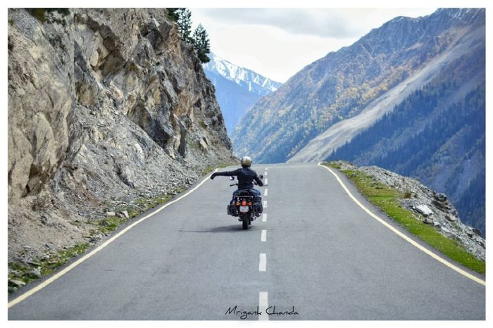 When nothing is going right, take left A New Beginning Mountain Motorcycle Adventure Road Sitting Panoramic Full Length Headwear Tree Riding Mountain Road Highway Two Lane Highway Countryside Dividing Line Road Trip