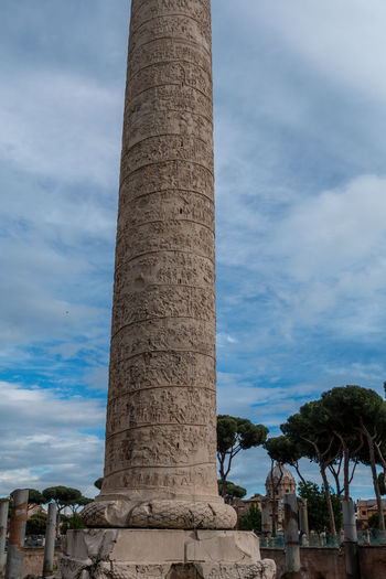 Sky Architecture History Built Structure Architectural Column The Past Cloud - Sky Nature Low Angle View Tree Travel Destinations Day Ancient Building Exterior Tourism Travel No People Plant Outdoors Ancient Civilization Archaeology Ruined