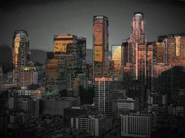i hope to go in Los Angeles in next future :/ Paperartist City Lights Streamzoofamily