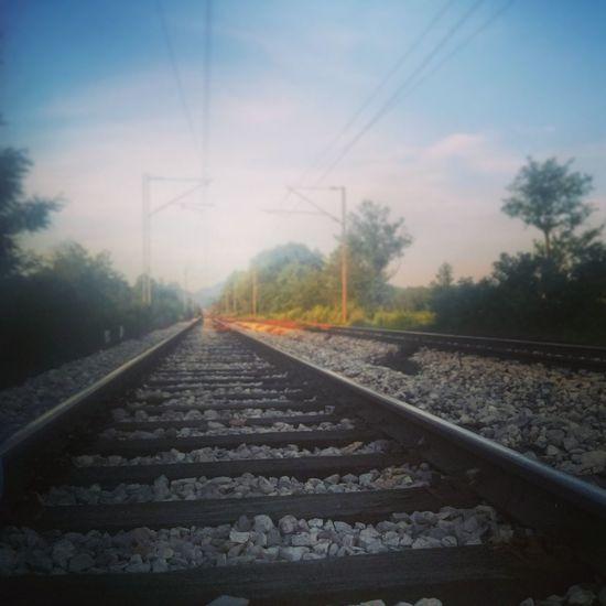 Rail Road Relaxing Taking Photos Hi!