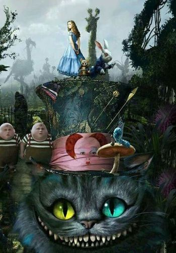 As mad as a hatter..As lost as Alice¡!..