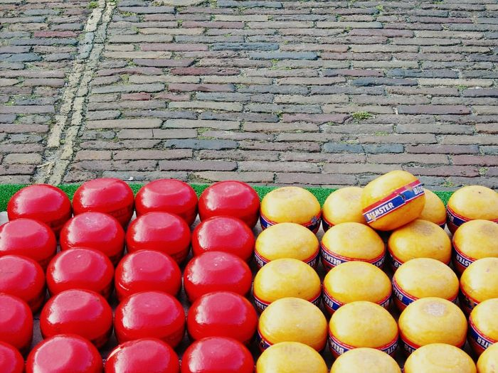 Cheese Colours Yellow Red Details The Cheese Market Gouda The Netherlands