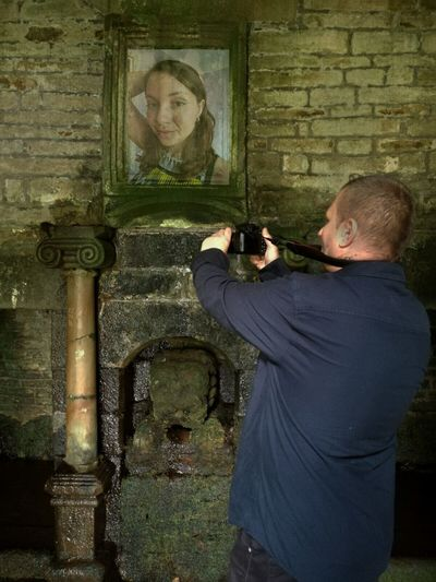 Taking Photos Check This Out That's Me Relaxing Enjoying Life Hi! Spooky Atmosphere GHOST GIRL Lancashire Inside Holy Well Building Ghosts Tockholes Nature Beautiful Girl