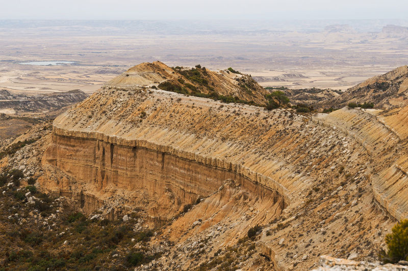 Bardenas reales , on a summit Bardenas Reales Curve Nature Trekking Desert Beauty Landscape Mineral North Of Spain Solitude And Silence Vertigo