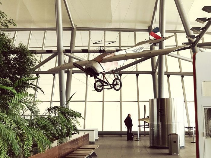 Like it was... Historical Airplane Past Times. Airport Lounge Airplane Old History Traveling Travel Destinations Real People Men One Person Indoors  Day Architecture The Traveler - 2018 EyeEm Awards Built Structure Plant Ceiling Standing Lifestyles