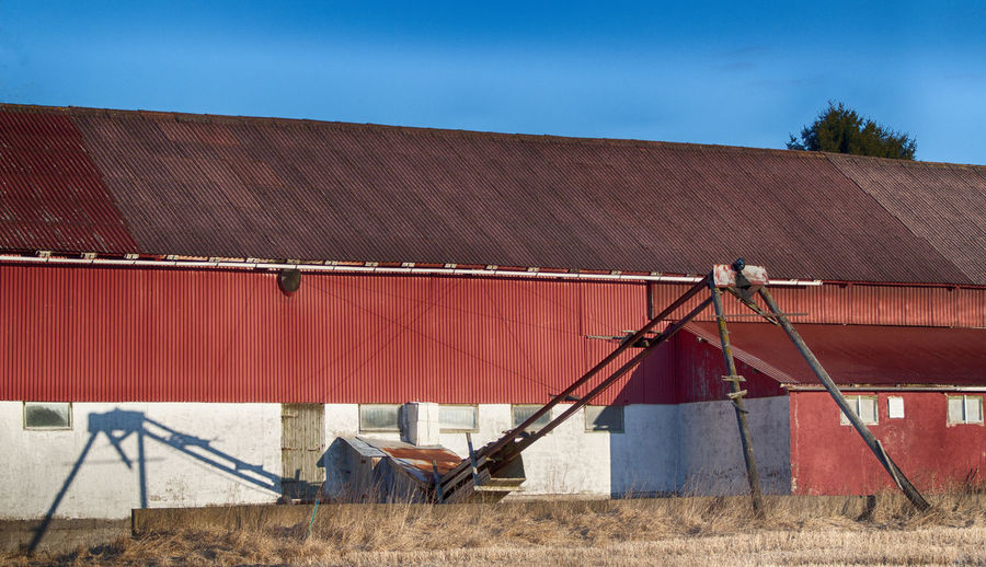 Agriculture Architecture Barn Blue Sky Clear Sky Cow Barn Day No People Outdoors Sky