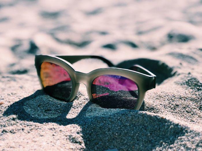 Sand Land Beach Reflection Visual Creativity