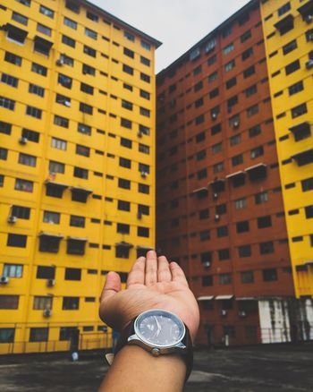 The day we can't be together but i always in your heart Built Structure Architecture Building Exterior City One Person Human Hand Human Body Part Real People Outdoors City Life Skyscraper Day Women Close-up Sky Adult People Adults Only