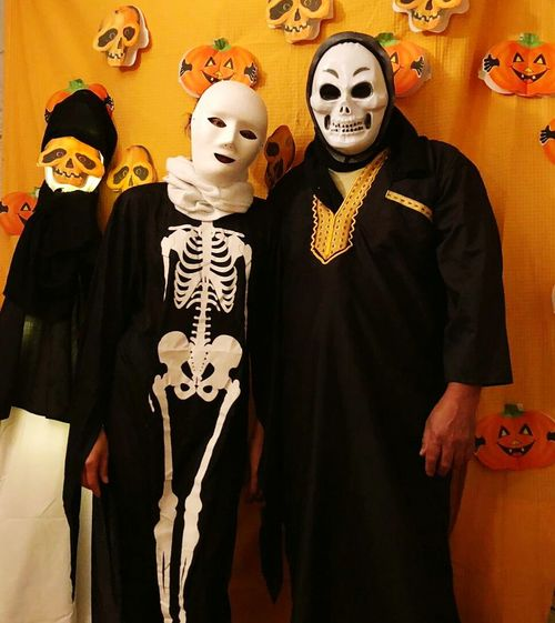 Halloween Human Skull Disguise Spooky Human Bone Human Skeleton Mask - Disguise Close-up