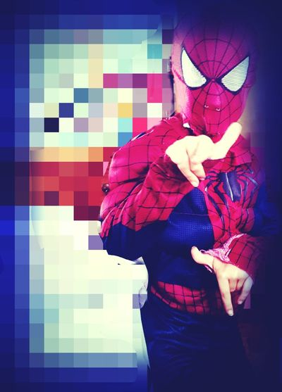 My 9 year old dressed as his favorite book character for his school's reading night.... One Person Standing Multi Colored Spiderman Costume Portrait Taking Photos Photography Photo Texas Check This Out Confidence  Child Childhood Indoors  Children Only Boys 9yearsold People Hanging Out School Program