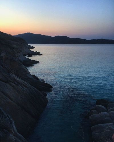 Sunset Nature Scenics Water Beauty In Nature Tranquility Sea Mountain No People Outdoors Day Clear Sky Tranquil Scene Sky Landscape