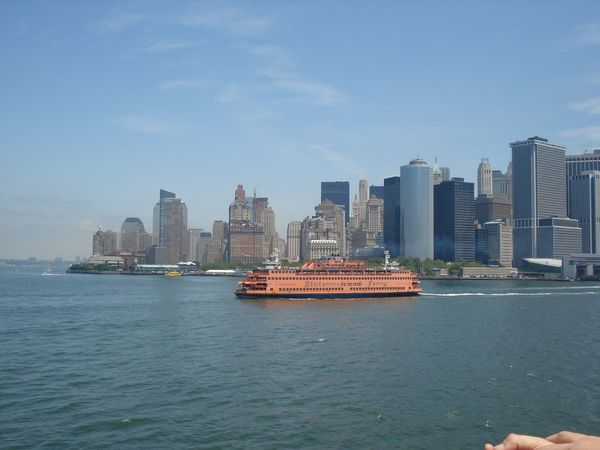 Manhattan Staten Island Staten Island Ferry Ferry New York USA Onaboat On A Boat Transportation Battle Of The Cities