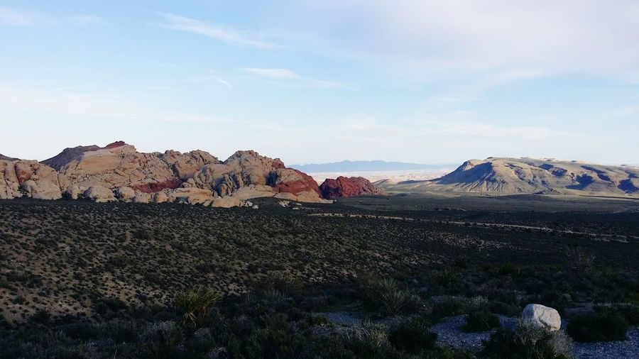 Idyllic Shot Of Landscape At Red Rock Canyon National Conservation Area Against Sky