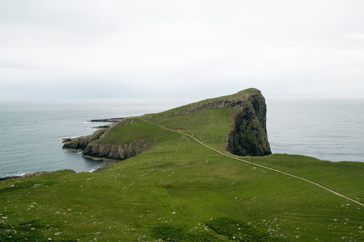 Beauty In Nature Cliff Day Grass Horizon Over Water Isle Of Skye Nature Neist Point No People Outdoors Scenics Scotland Sea Sky Tranquil Scene Tranquility Water
