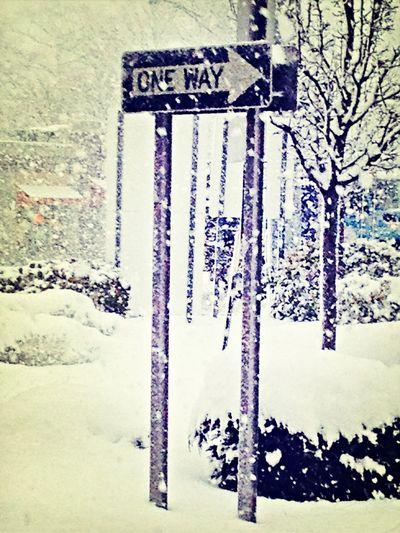 One way snow