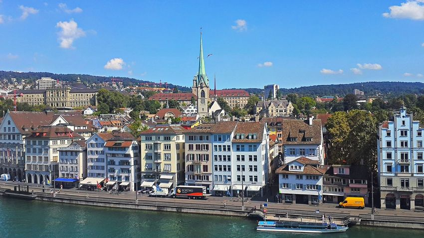 Limmat Architecture Building Exterior Built Structure City Day Limmat Limmatquai Outdoors River Schweiz Switzerland Water Waterfront Zürich