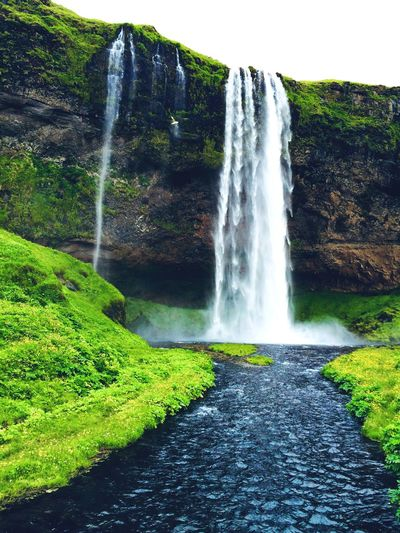 Black water Waterfall Seljalandsfoss EyeEm Best Shots Nature Landscape Water Grass Field Black Iceland Water Beauty In Nature Scenics - Nature Green Color Nature Motion Plant Waterfall No People Land Outdoors Flowing Water Power In Nature Splashing Idyllic Day EyeEmNewHere EyeEmNewHere EyeEmNewHere EyeEmNewHere The Great Outdoors - 2018 EyeEm Awards