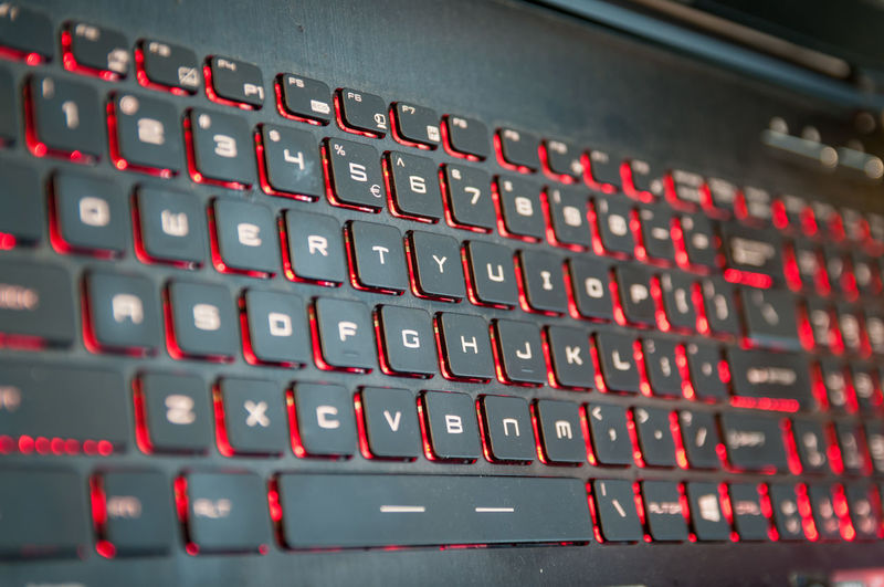 Full frame shot of laptop keyboard