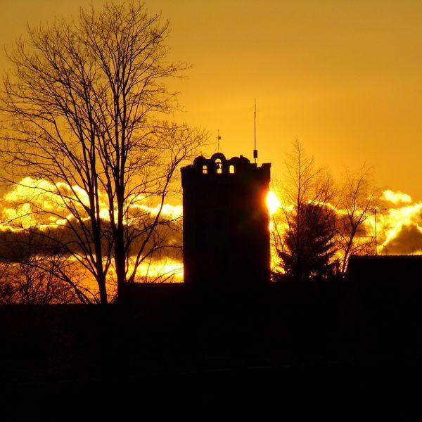 Sunset Gebäude Und Himmel Gebäude Architektur