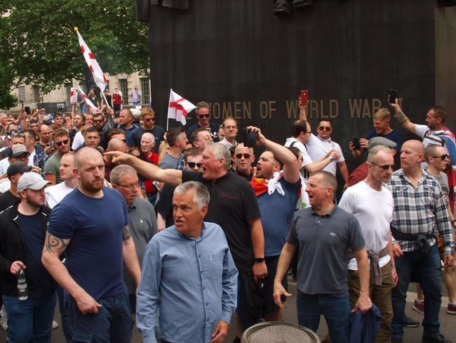 English Defence League. (EDL). Free Tommy Robinson Protest. Whitehall. London. 09/05/2018 EDL London Whitehall Brexit Protesters Protest Politics And Government English Defence League London News Steve Merrick Stevesevilempire Metropolitan Police Free Tommy Robinson Racism Islamophobia Crowd Large Group Of People Group Of People Real People Men Event Architecture