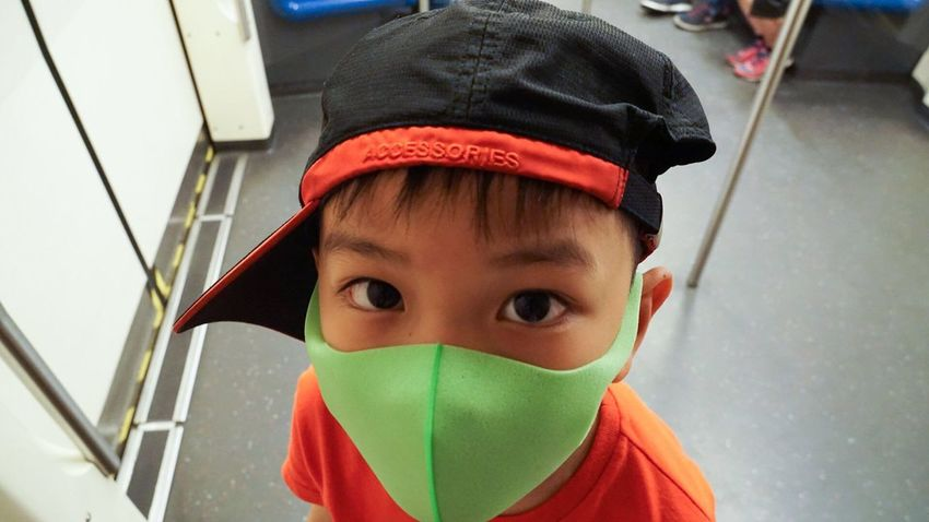 Pitta mask2 Mask For Kids Pitta Mask For Kids Green Mask Air Pollution Mask Pitta Mask Pitta Childhood Boys Child Real People One Person Looking At Camera Portrait
