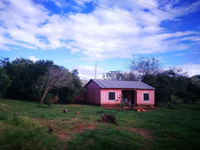Ara Pyahu San Pedro Paraguay Litle House House Cloud - Sky Day Rural Scene Nature Tranquility Paradise On Earth Peaceful Place Paradise ❤ Blue Sky And Clouds Beauty In Nature