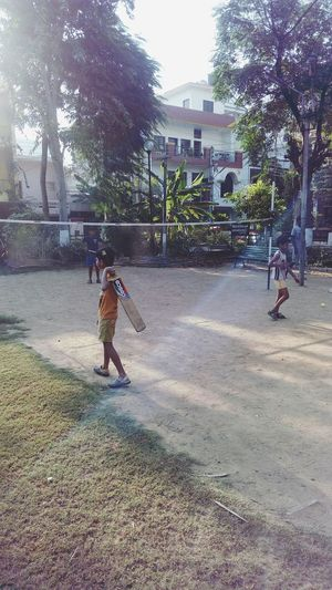 Badminton Court Badmintom Racket Cricket Bat Childrens Playing Net Mobile Photography Outdoors SSClickpix SSClicks SSClickPics