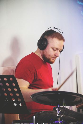 One Man Only Only Men One Person Music People Red Indoors  Men Lifestyles Drummer Drumming Electrodrums Roland Drum Roland Hobby The Portraitist - 2017 EyeEm Awards BYOPaper! Live For The Story Place Of Heart EyeEm Selects Breathing Space