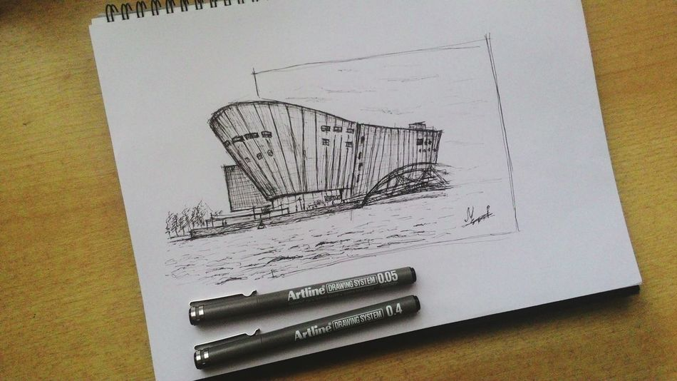 Taking Photos Check This Out Enjoying Life Sketch ArtWork Artline Architecture Highrise Netherlands Amsterdam