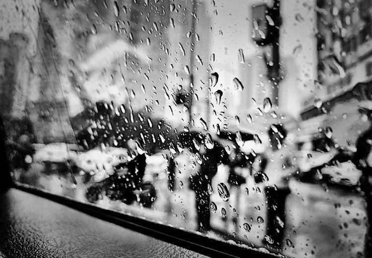 Shanghai Glass - Material Window Wet Transparent Drop Rain Water Transportation Rainy Season Close-up Vehicle Interior Mode Of Transportation Indoors  RainDrop Nature Backgrounds Glass Full Frame