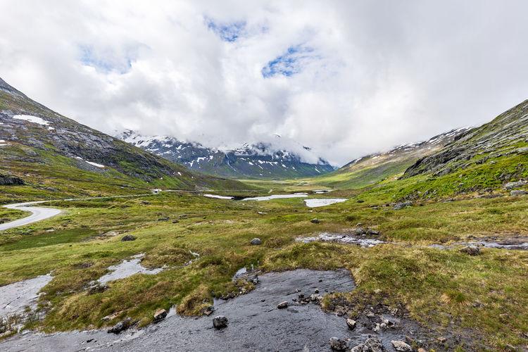 norway wilderness Norway Beauty In Nature Cloud - Sky Day Lake Landscape Mountain Nature No People Outdoors Scenery Scenics Sky Snow Trollstigen Water