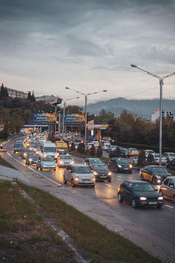 Traffic Cars Trafic Tbilisi Goergia