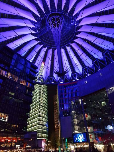 Berlin Sony Center Berlin Technology Happiness Purple Lights Lifestyles Art Love Restaurant Illuminated City Architecture Sky Built Structure